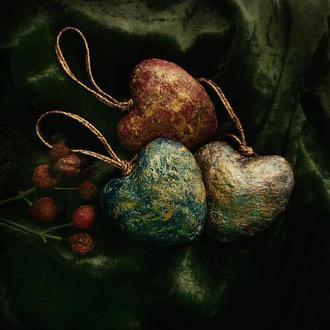 елочные игрушка- сердце