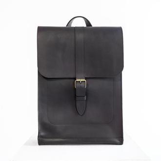 Кожаный рюкзак унисекс Minimal ULTRA (черный)