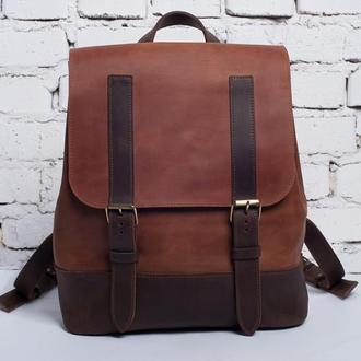 Мужской кожаный рюкзак Street Backpack (коричневый)