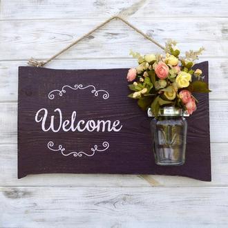 Доска рустик «Welcome»