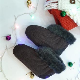 Бурки, обувь, теплые тапочки,  комнатные сапожки, 36,37 размер