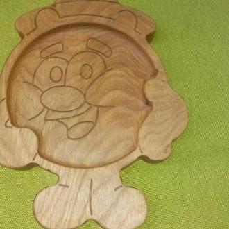 """Тарелка детская из дерева """"Копатыч"""""""