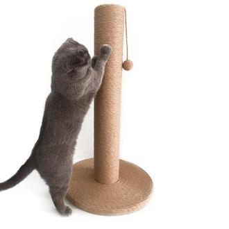 Большая джутовая когтеточка-столбикдля котов и кошек всех пород