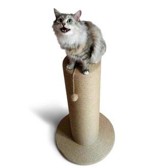Большая массивная и высокая когтеточка столбик высотой 82 см для котов и кошек крупных пород