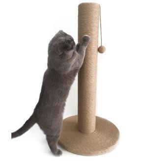 Большая джутовая когтеточка-столбикдля котов и кошек крупных пород
