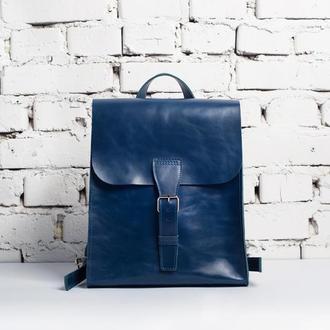 Женский кожаный рюкзак Dream (синий)