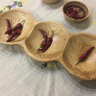 Плоская ваза для фруктов