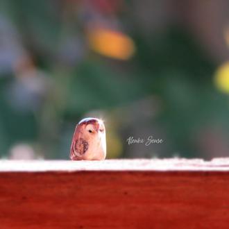 Миниатюра сова ′Тарсу′ фигурка совенок тотем декор подарок