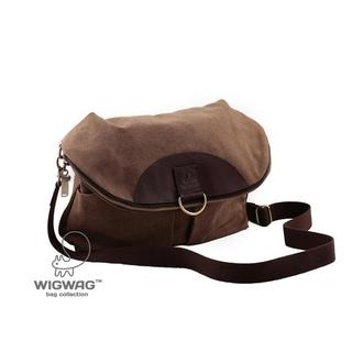 Женская сумка-рюкзак из канваса и натуральной кожи коричневого цвета