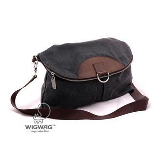Женская сумка-рюкзак из канваса цвета серый графит и натуральной кожи