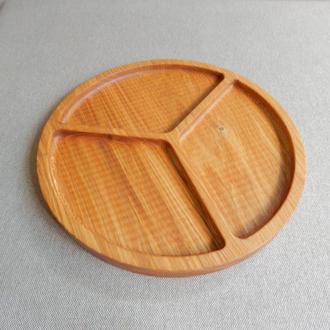 Тарелка менажница на три секции. Кухонные доски из дерева. Менажницы из дерева. Декоративные тарелки