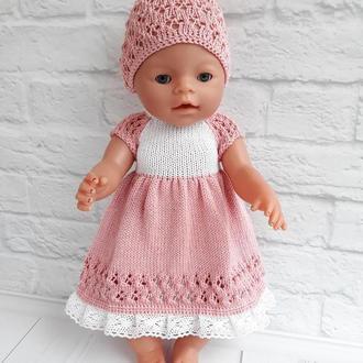 В'язаний комплект на ляльку Бебі Борн. Одяг на Бебі Берна