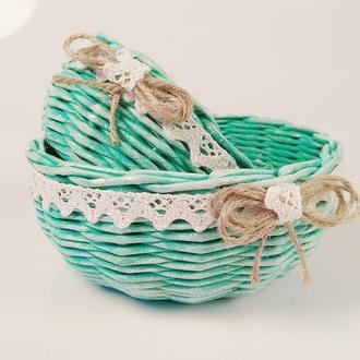 Плетеная  корзинка  для хранения.