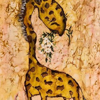 Картина батик Жирафка   30х45