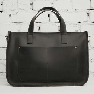 Женская сумка-шоппер HOLA серого цвета