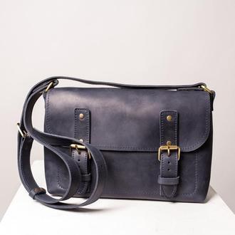 Женская сумка Street Bag на плечо  синего цвета