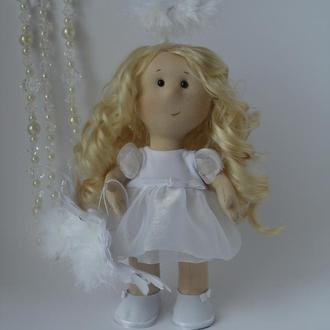 Интерьерная текстильная кукла ангелок