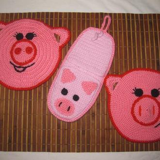 Прихватки Свинки