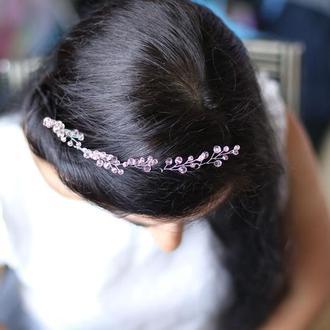 розовые шпильки для волос 5 штуки