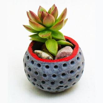 Кашпо, горшок для суккулентов и кактусов, подарок на новый год