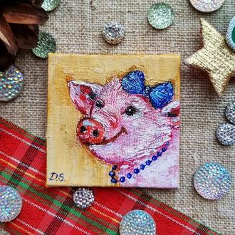 Свинка модница (миниатюра)