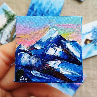 Заснеженные горы (миниатюра)