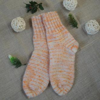 Вязаные шерстяные носки 33 размер