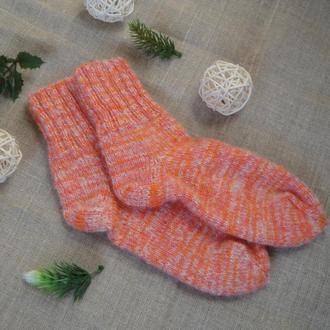 Вязаные шерстяные носки  32 размер