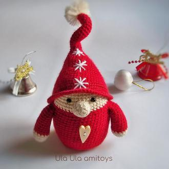 Різдвяний гном Іграшка амігурумі