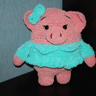 Свинка Балеринка, плюшевая хрюшка