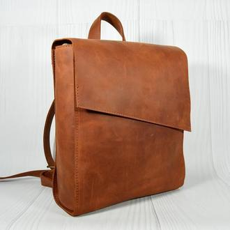 "Кожаный рюкзак ""Уголок"""