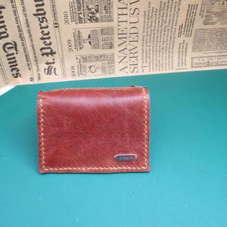 Мини кошелёк,классика,зажим для денег. Картхолдер.