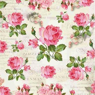 Декупажная карта Розы Цветы Винтаж 18V 55 г/м2, А4, 210Х290 мм