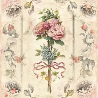 Декупажная карта Розы Цветы Винтаж 38V 55 г/м2, А4, 210Х290 мм