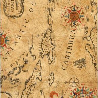 Декупажная карта Карта мира Винтаж 47V 55 г/м2, А4, 210Х290 мм