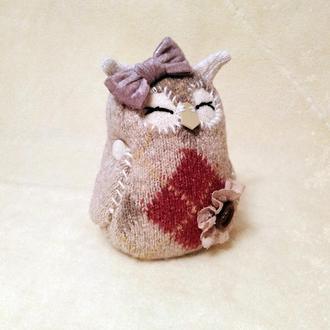 игрушка сова текстильная