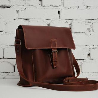 Кожаная сумка унисекс Daily BAG через плечо
