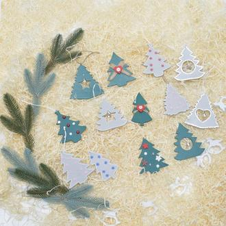 Елки из дерева украшения на елку игрушки новогодние