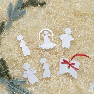 Новогодние игрушки из дерева фанеры Ангелы Ангелики Ангел