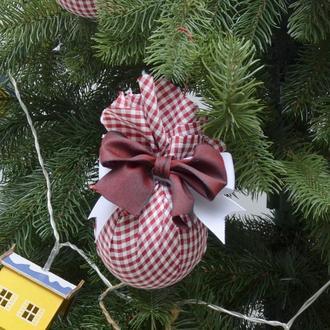 Новогодние игрушки шары кули из ткани