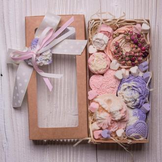 Подарочный набор зимние цветы от Мир Мыла