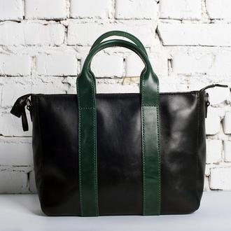 Женская кожаная сумка-шопер Meggie М двух цветов