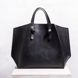 Женская кожаная сумка-шопер She Handbag (с косметичкой)