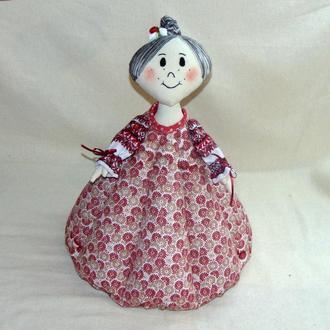 Народная баба-грелка для чайника НОНА