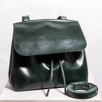 Женская кожаная сумка Passion зеленого цвета