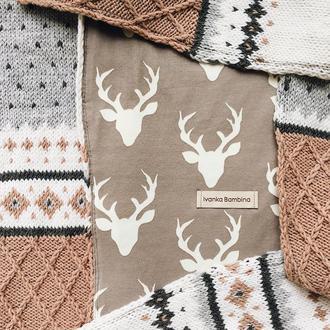 Вязаный шарф с оленями Гюстав