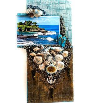 Настенная ключница - Мечты о море. Декор в морском стиле.