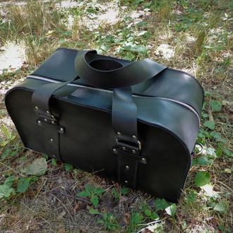 Спортивная сумка из натуральной кожи. 02002