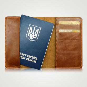 Обложка на паспорт Pass lock brown
