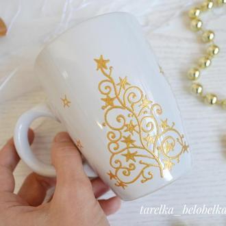 Кружка с золотом